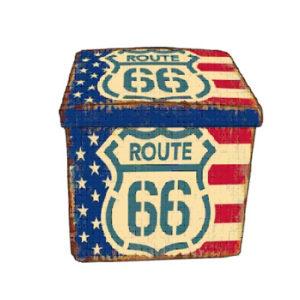Pouf Route 66